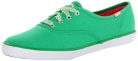Keds Women's Champion Seasonal Solid Oxford, Bright Green