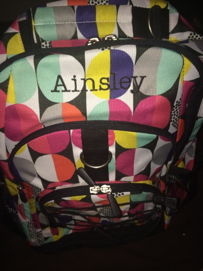 Ainsley's Backpack 1