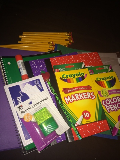 Ainsley's School Supplies