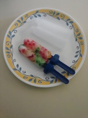 Gummy bear popsicle results