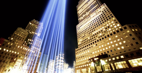 Tribute in Light Column at Ground Zero